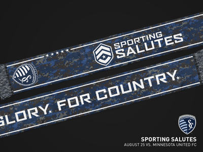 Sporting Salutes Scarf 2018 sports military apparel kansas city scarf mls soccer sporting kc