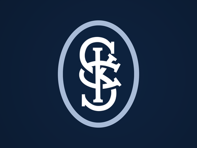 Sporting KC Monogram Logo typography monogram illustration sports logo mls sporting kc soccer kansas city