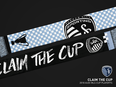 Claim The Cup Scarf - Sporting KC illustration playoffs sports scarf mls sporting kc soccer kansas city