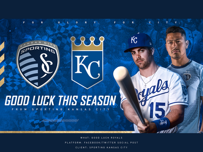 Good Luck Royals (2019) sports soccer mlb social baseball kansas city