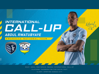Rwanda Intl Call-up - Sporting KC fifa rwanda social sports sporting kc kansas city soccer