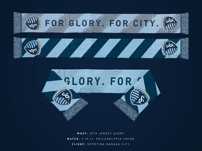 2019 Sporting KC Jersey Scarf scarf sporting kc mls design sports kansas city soccer