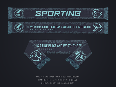 Sporting Sustainabiity/Parley Scarf - Sporting KC