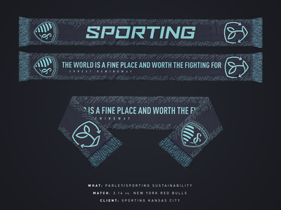 Sporting Sustainabiity/Parley Scarf - Sporting KC mls scarf sporting kc sports kansas city soccer
