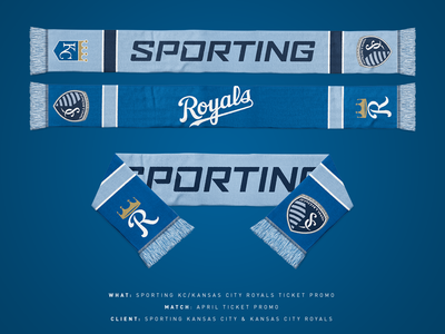 Sporting KC/Royals Ticket Scarf