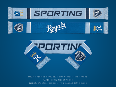 Sporting KC/Royals Ticket Scarf royals scarf mls sporting kc sports kansas city baseball soccer