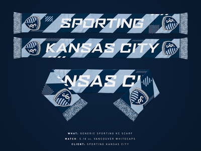 2019 Generic Sporting KC Scarf soccer kansas city sports sporting kc mls scarf