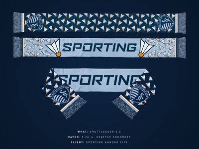 Sporting Shuttecock Scarf 2.0
