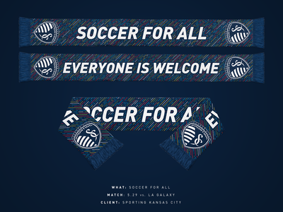 Soccer For All - Sporting KC Scarf