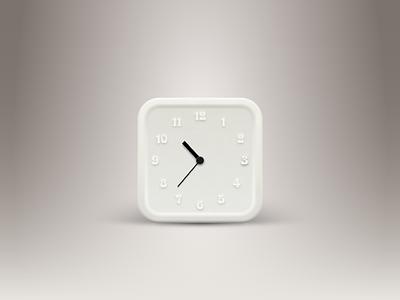 Clock Icon clock icon illustrator vector white light rubber