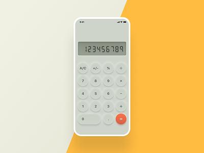 Daily UI Challenge #004 Calculator ui designs daily ui skeuomorphic ui calculator
