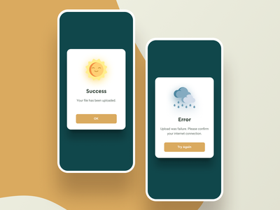Daily UI Challenge #011 Flash Message modal cool minimal interaction error rain fine daily ui ui mobile iphone ios clean feedback weather flash message popover popup app dailyui
