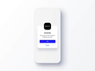 Daily UI Challenge #016 Pop Up Overlay icon card ui design daily ui iphone app mobile ios texture soft real blue white cool simple popover overlay popup dailyui