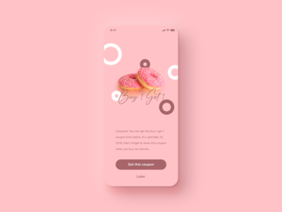 Daily UI Challenge #036 Special Offer