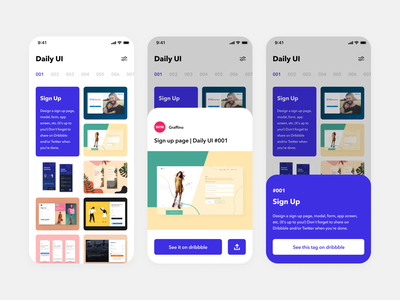 Daily UI Challenge #045 Info Card dailyui ui light challenge design picture photo dribbble gallery modal info card card blue clean iphone ios mobile app simple daily ui