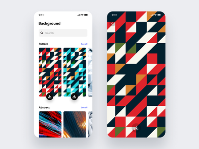 Daily UI Challenge #059 Background Pattern wallpaper ui tile mosaic abstract carousel paroduct card ios app mobile iphone white design pattern background pattern background simple dailyui daily ui
