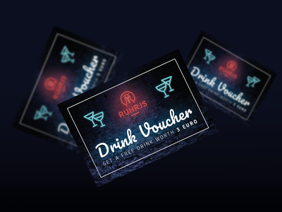 Conference Drink Voucher neon lights corporate identity design corporate design corporate identity print drink voucher conference design conferencevoucher