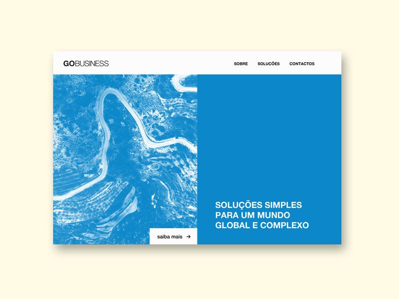 Gobusiness website design ui