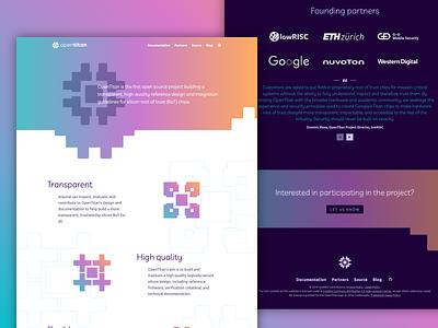 Website Design OpenTitan svg animation css webdesign