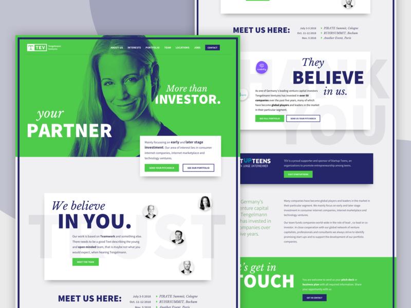 Website - Venture Capital Firm venture capital webdesign typography website