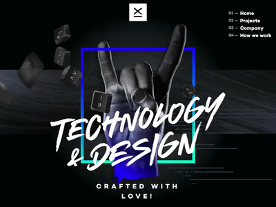 Technology & Design – Crafted with Love! website design animation css launch webdesign