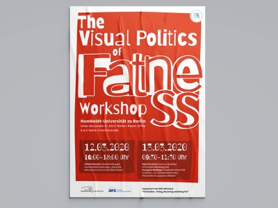 The Visual Politics of Fatness - Poster poster design bold red typography poster