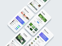UI Design for a social media app for gardeners and plant lovers