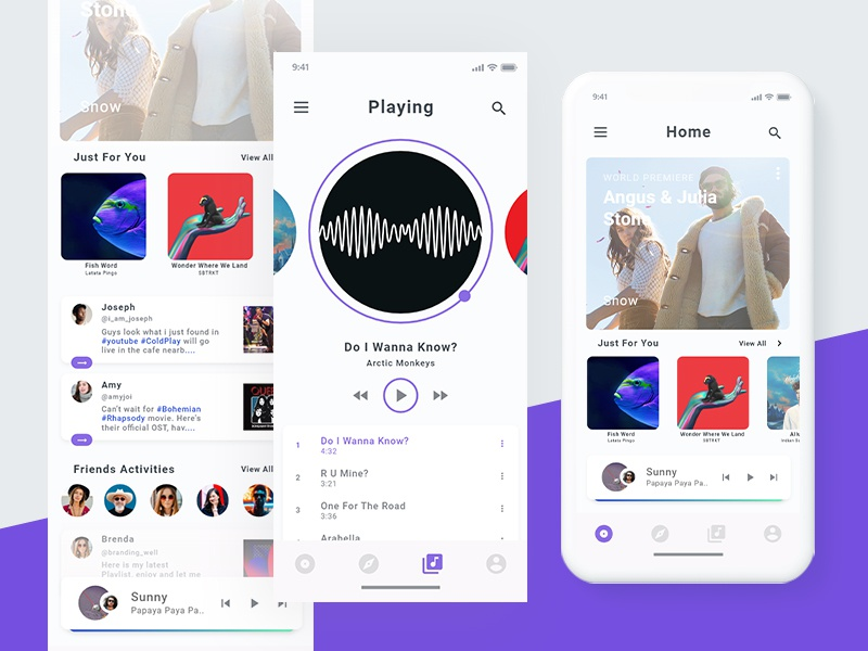 Simple music player app UI concept  by Prince Sarmah on Dribbble