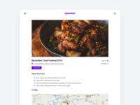 Screen from an event management web app concept