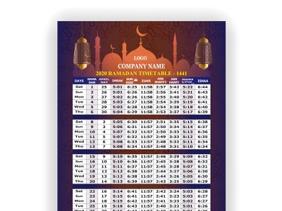 Ramadan 2021 Calendar Ramadan Calendar Design 2021 designs, themes, templates and