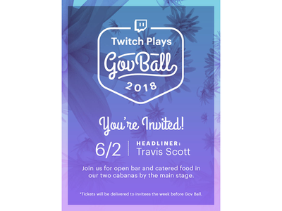 Twitch x Gov Ball tropical gradient c4d festival governors ball gov twitch