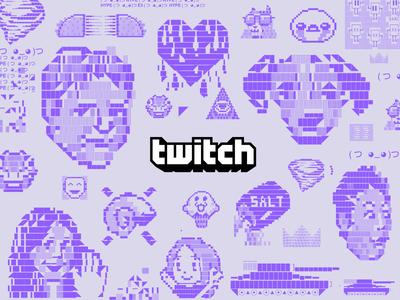 E3 2017 Twitch Mural chat twitch emoji emote ascii gaming mural e3