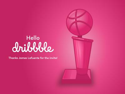 Randy Suarez Dribbble Debut finals champion shot basketball nba trophy