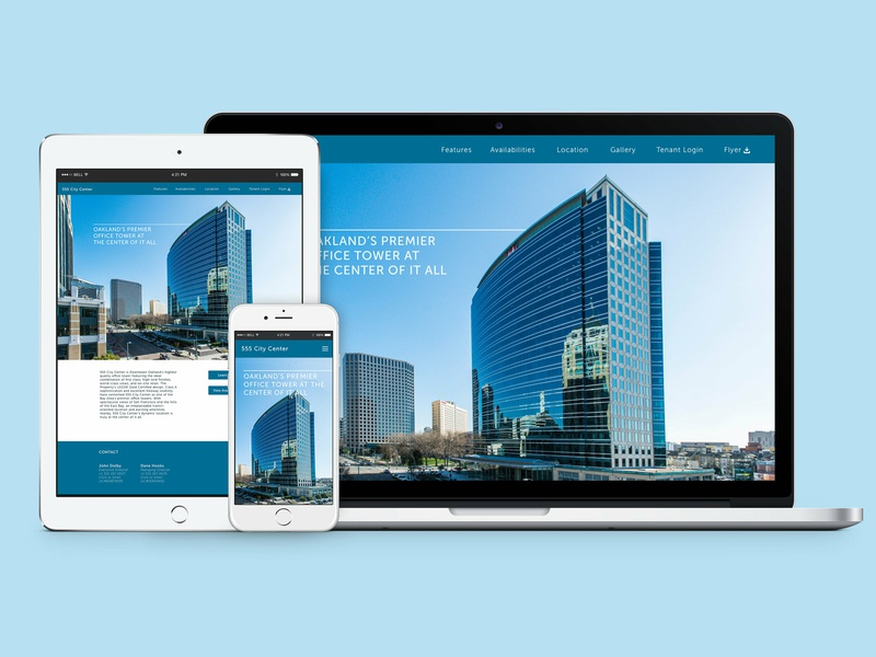 555 City Center Website Re-Design web design