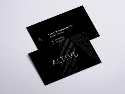 Altius business card branding