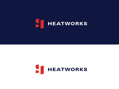 Heatworks Final Logo water connected home monogram h logo branding