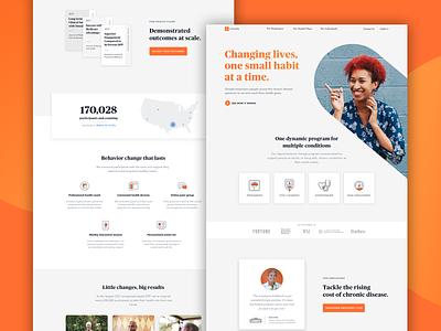 Omada Healh Home Page art direction uiux product design light interface behavior change digital health responsive web design