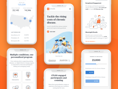 Omada Employer Page Mobile Layout