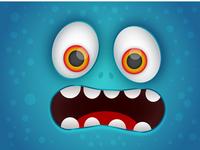 Funny Monster Face