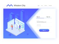 Smart city login page