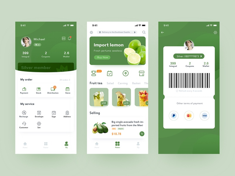 Fruit app-two design natural ps