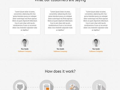 Testimonials and Process Steps testimonials process steps website grajon
