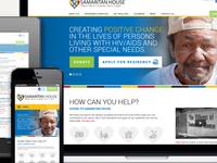 Samaritan House Responsive Web Design