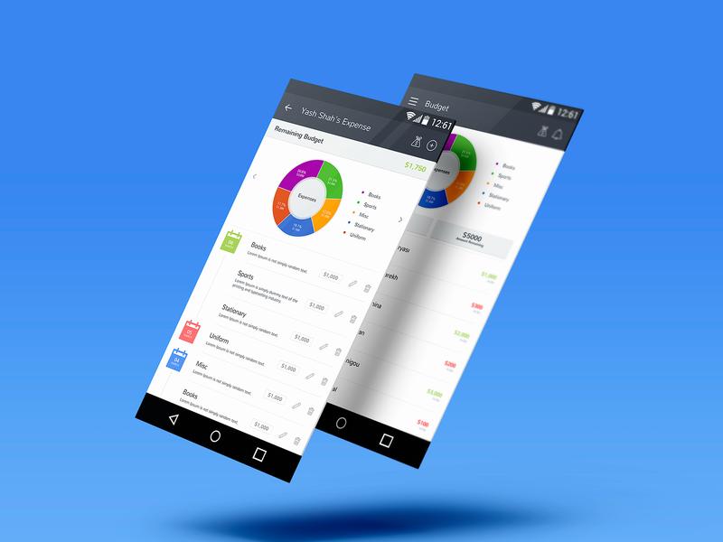 Budget Expense Mobile UI