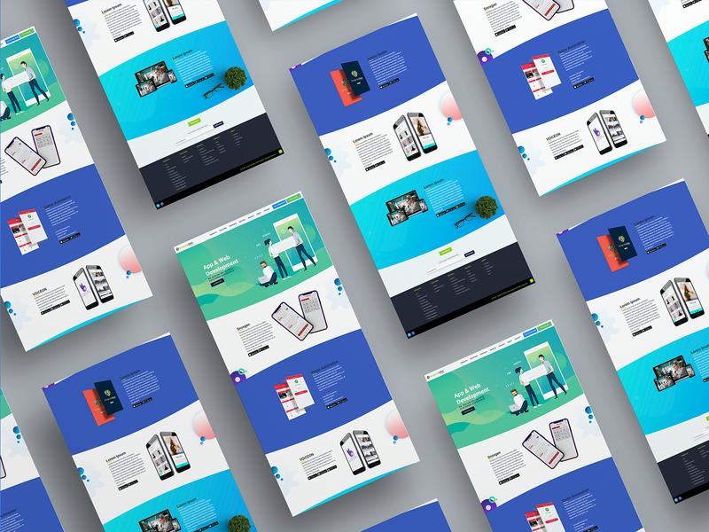 Portfolio Landing Page Design
