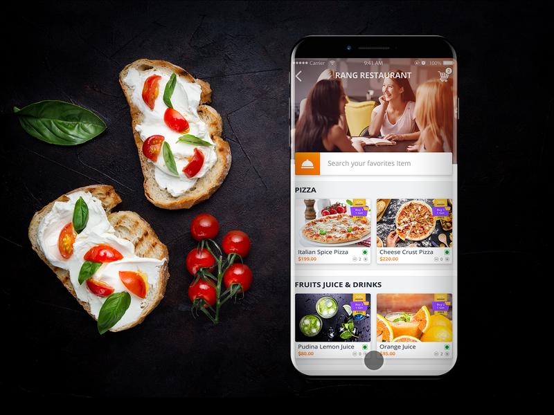 Restaurant Food Details Mobile UI