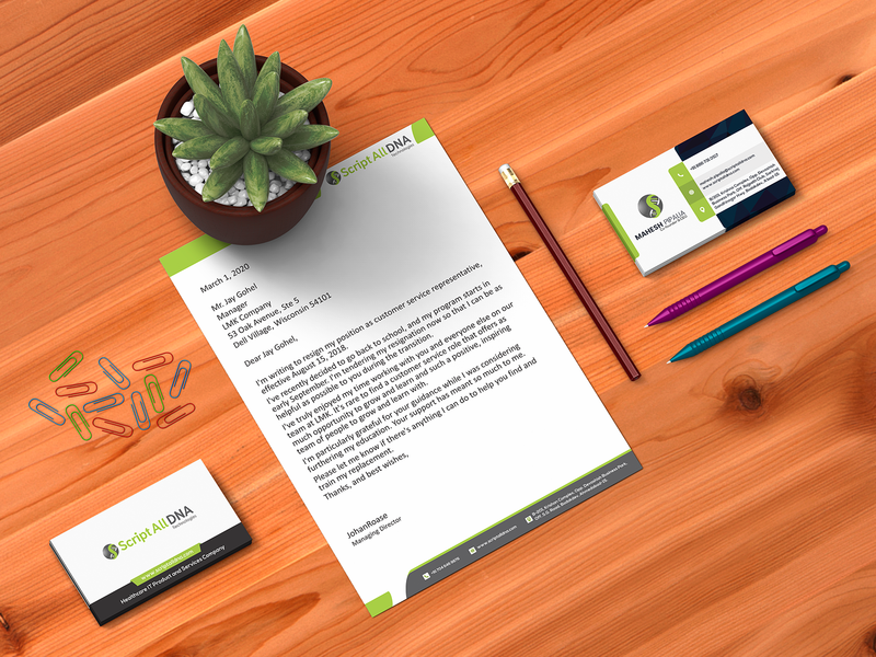 Letterhead and Visiting Card Design
