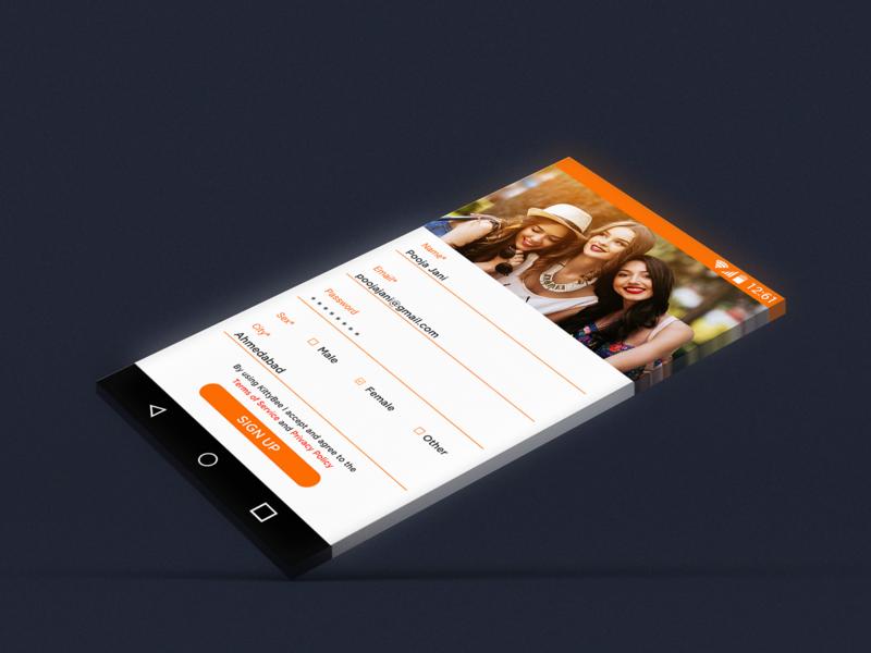 Registration Mobile UI Design