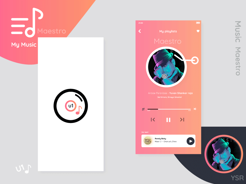 Music player app design music