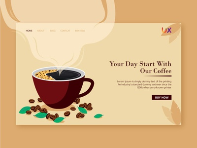 Coffee shop Landing page design Illustration landing page design coffee shop landing page web ui illustration android app design website design creative ui uiux user experience adobe illustrator user interface design adobe xd